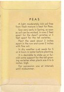 old vintage 1930s PEA pods seed pack ~ Pasadena California