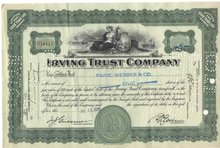 old vintage 1929 PAINE WEBBER Stock Certificate
