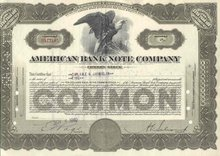 old vintage 1940 AMERICAN BANK NOTE stock certificate