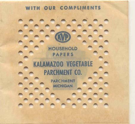 old vintage KALAMAZOO PARCHMENT PAPERS