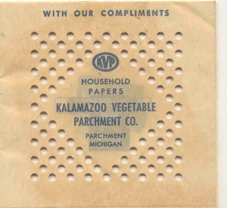old vintage KALAMAZOO PARCHMENT PAPERS