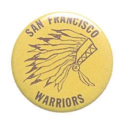 old vintage 1960s San Fransico Warriors Pinback