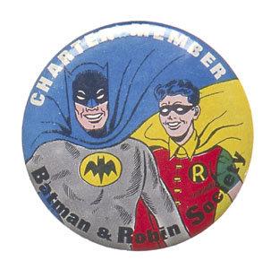 old vintage 1966 Batman Robin Charter Member pinback pin