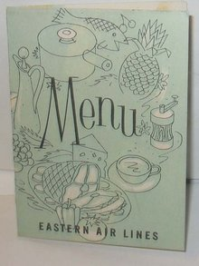 Eastern Airlines Menu Vintage