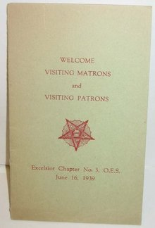 old vintage EXCELSIOR CHAPTER 1939 menu
