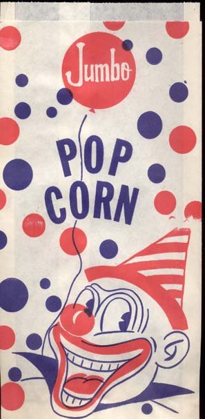 Jumbo Clown Popcorn Bag