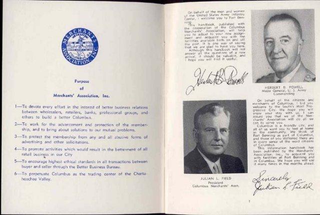 old vintage 1957 FORT BENNING Serviceman Booklet