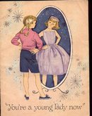 old vintage 1959 YOU'RE A YOUNG LADY NOW booklet