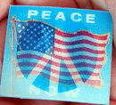 old vintage 1960s Peace Movement Flicker Disc