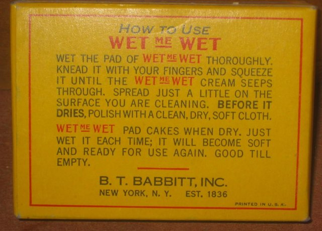 old vintage 1950s WET ME WET Full Box Window Clean Wipes
