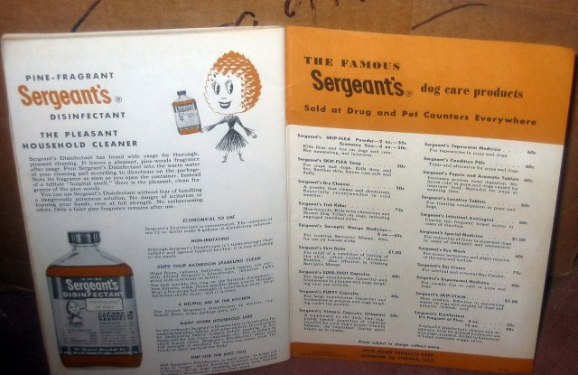 old vintage 1948 SERGEANTS Dog Care Products Booklet