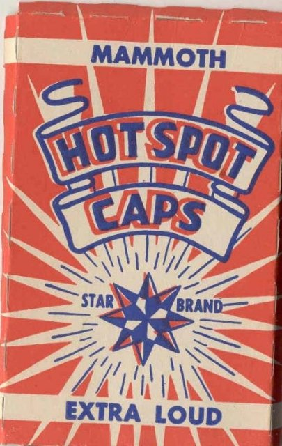 old vintage Mammoth Hot Spot Caps in Box