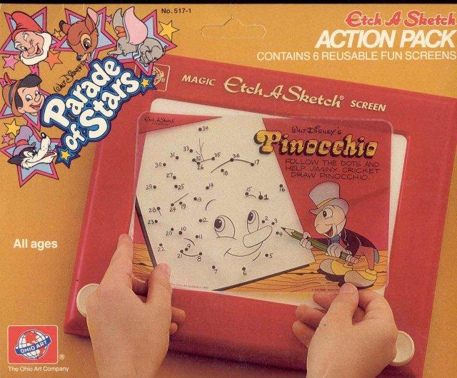 old vintage 1982 Etch A Sketch Fun Screens in