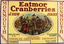 Eatmor Cranberries Label