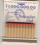 Joe Brown's Horseshoe Club Vegas Matchbook ~ Sexy pinup girl