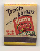 Hunts Tomato Burger Matchbook