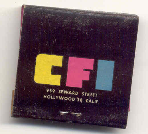Consolidated Film Matchbook 1940