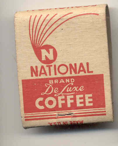 old vintage NATIONAL FOOD STORES Matchbook