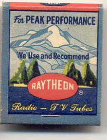 old vintage RAYTHEON Matchbook