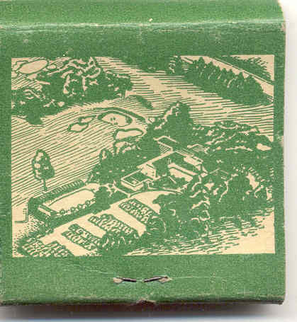 NY Mt. Vernon Hills Country Club Tuckahoe New York Matchbook