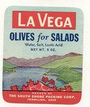 old vintage 1940s LA VEGA OLIVE LABEL