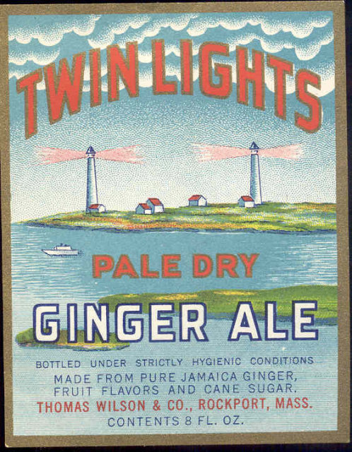 Twin Lights Gingerale Soda Label