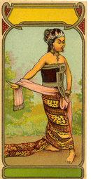 antique 1890s ART DECO Indian Fabric Dye Label