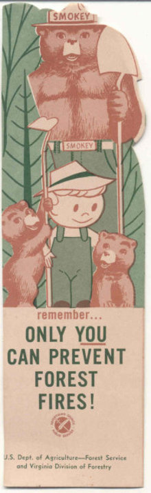 Smokey the Bear Diecut Bookmark