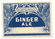 old vintage FANCY GINGER ALE Soda Label
