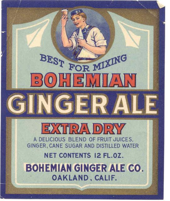 Bohemian Gingerale Soda Label