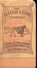old vintage 1948 BAUGH & CO FERTILIZER Notebook