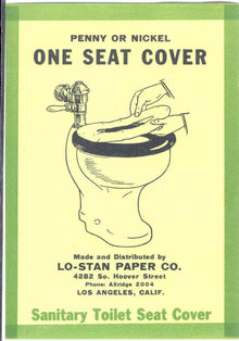 old vintage 1928 TOILET SEAT COVER label