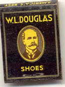 old vintage W.L. DOUGLAS Shoe Matchbook