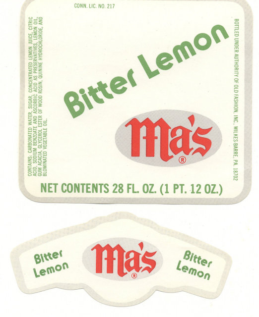 Bitter Lemon Mas Soda Labels