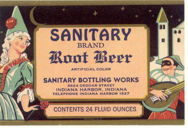 Sanitary Root Beer Soda Bottle Label