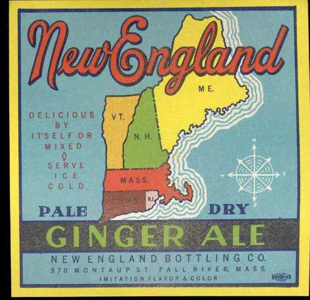 New England Ginger Ale Soda Label