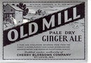 old vintage 1940s OLD MILL METALLIC Gingerale Soda Label