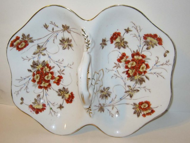 German Floral Candy Dish 1950s