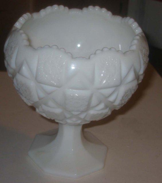 Milk Glass Compote Dish