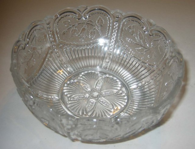 Floral Cut Glass Bowl