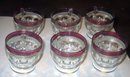 Cranberry Kings Crown Thumbprint Punch Glasses