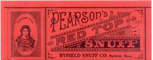 PEARSON'S RED TOP SNUFF LABEL