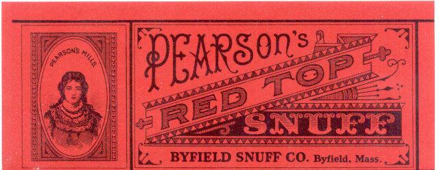 PEARSON'S RED TOP SNUFF LABEL