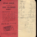 old vintage 1940s STAR FENCE WIRE Notebook used