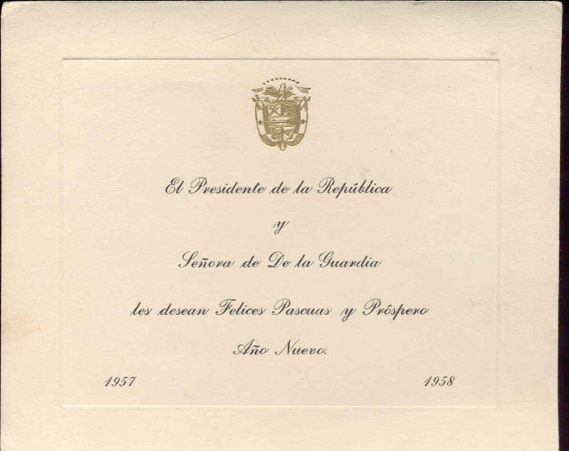 old vintage 1957 1958 Invitation Card Spanish