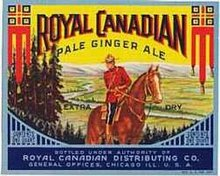Royal Canadian Gingerale Soda Label
