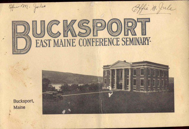 Bucksport Maine Seminary Booklet