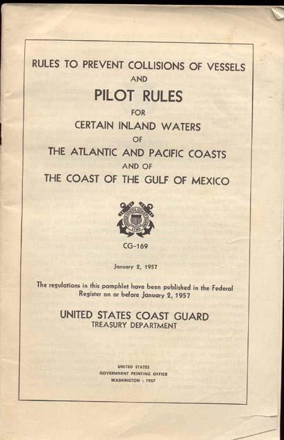 old vintage 1957 U.S. COAST GUARD Pilot Rules Booklet