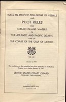 old vintage 1957 U.S. COAST GUARD Pilot Rules Booklet