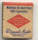 old vintage NYC DIAMOND MATCHBOOK used